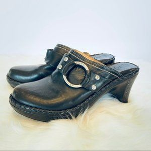 Frye Boots Clog Mule Shoes Charlotte Slip On